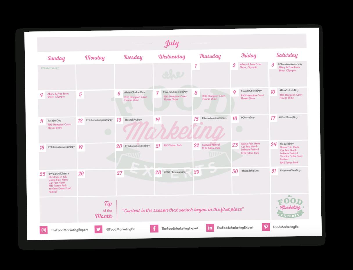 TFME 2021 Social Media Calendar Downoad